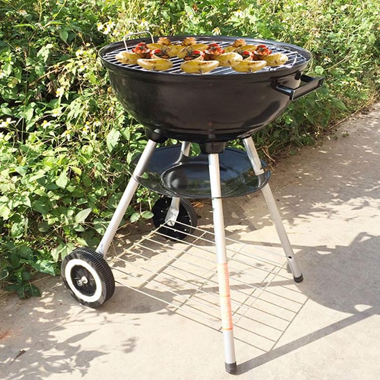 "Outdoor Bbq Kitchen Ideas: 17"" Backyard Charcoal Kettle BBQ Grill"