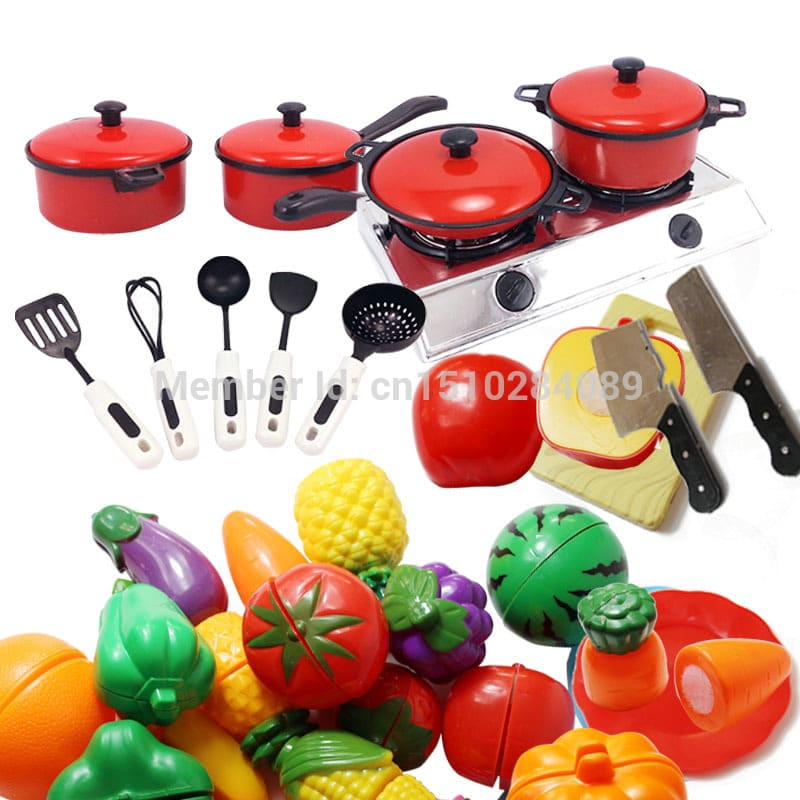 Hot Kids Play Toy Cooking Food Kitchen Utensils Pans Pots