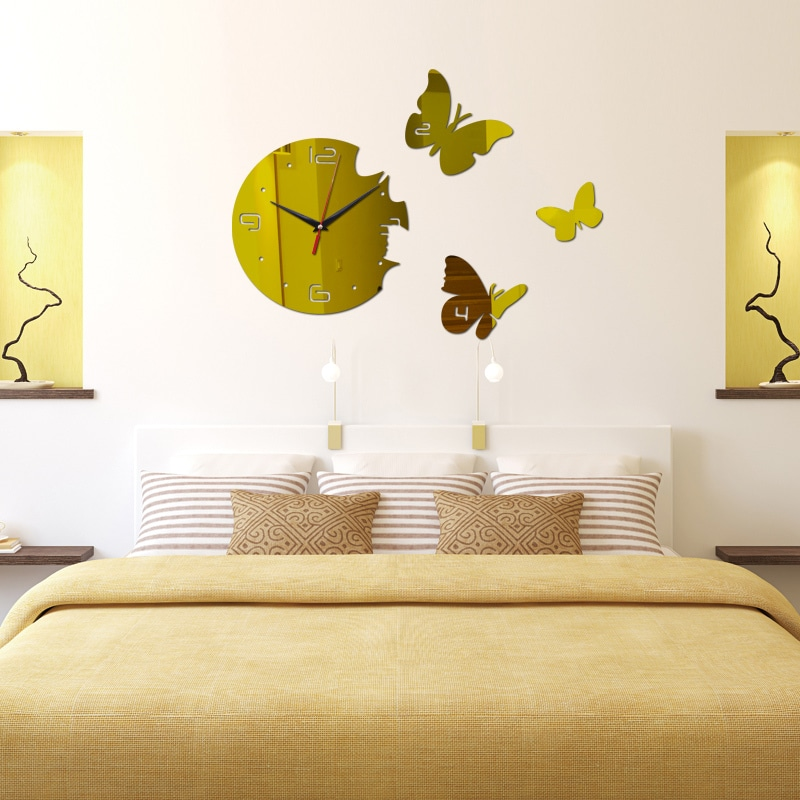 2015 hot mirror wall stickers 3d Acrylic living room watches - Cooking ...
