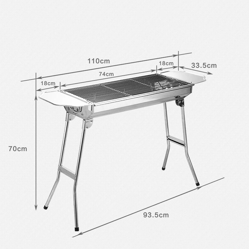 Outdoor Barbecue Picnic 29 13 2 27 Stainless Steel Outdoor Barbecue Oven Charcoal Portable