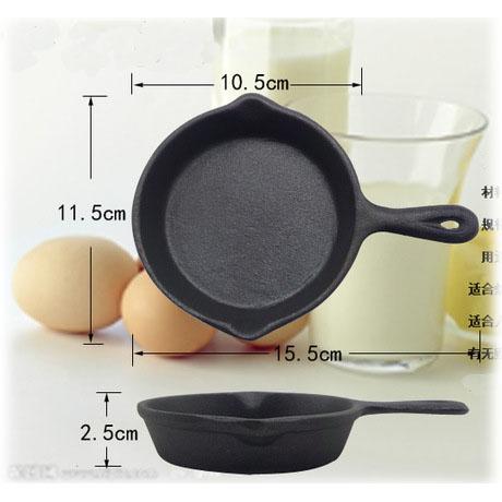 Free Shipping Cast Iron Egg Fry Pan Mini Cast Iron Pan