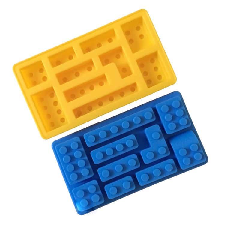 Creative Colorful Lego Toy Brick Shape Silicone Cake Mold