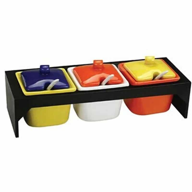 Creative Kitchen Jars For Storage Edible Plastic 3 Grid