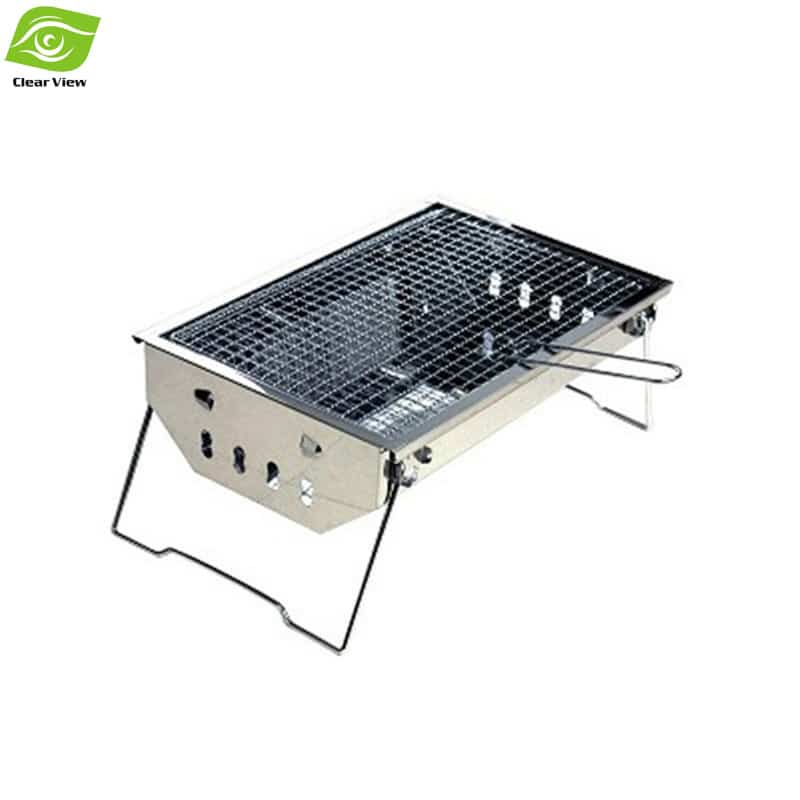 easy cleaning stainless steel charcoal bbq grill portable. Black Bedroom Furniture Sets. Home Design Ideas