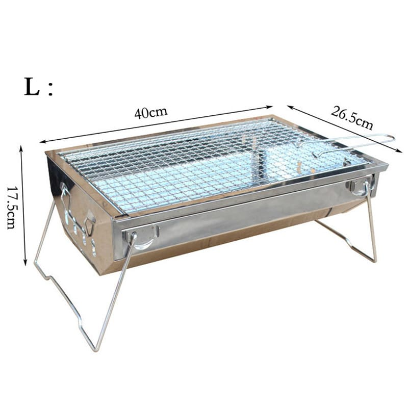 easy cleaning stainless steel charcoal bbq grill portable