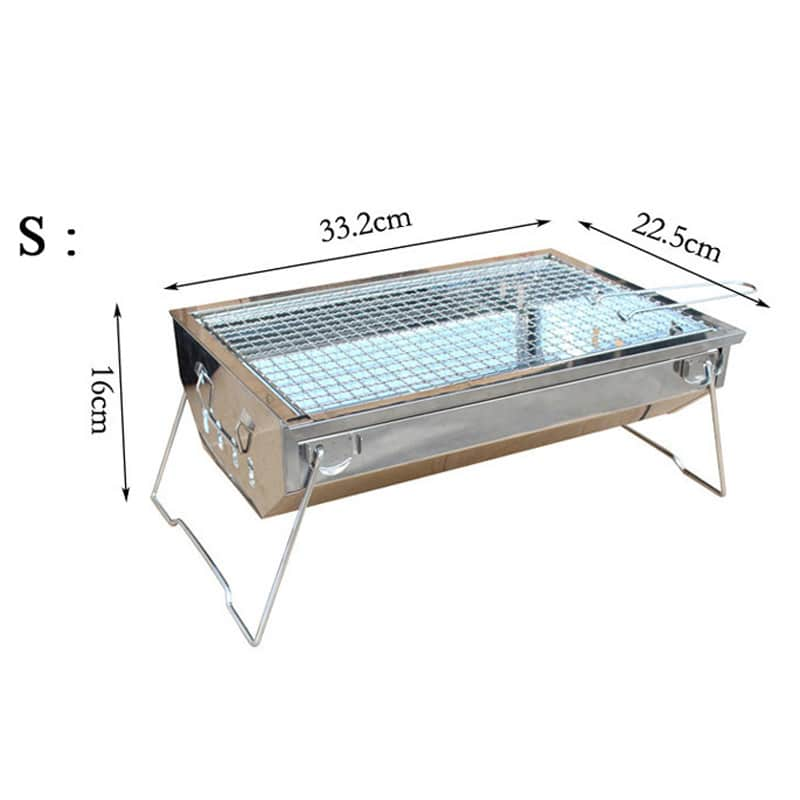 Easy Cleaning Stainless Steel Charcoal Bbq Grill Portable Folding Barbecue Grill For Outdoor