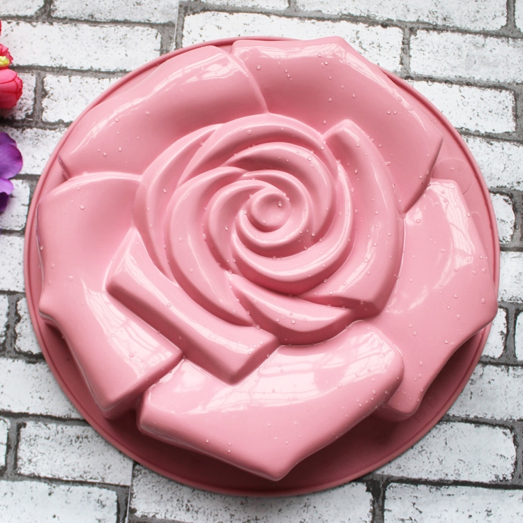 High Quality Rose Shape Silicone Cake Mould Chocolate
