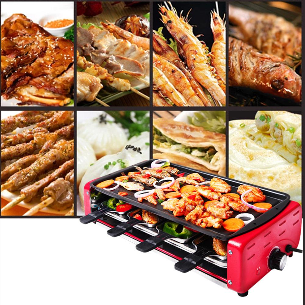 hot non stick gt lite household electric grill bbq electric oven smokeless barbecue machine. Black Bedroom Furniture Sets. Home Design Ideas