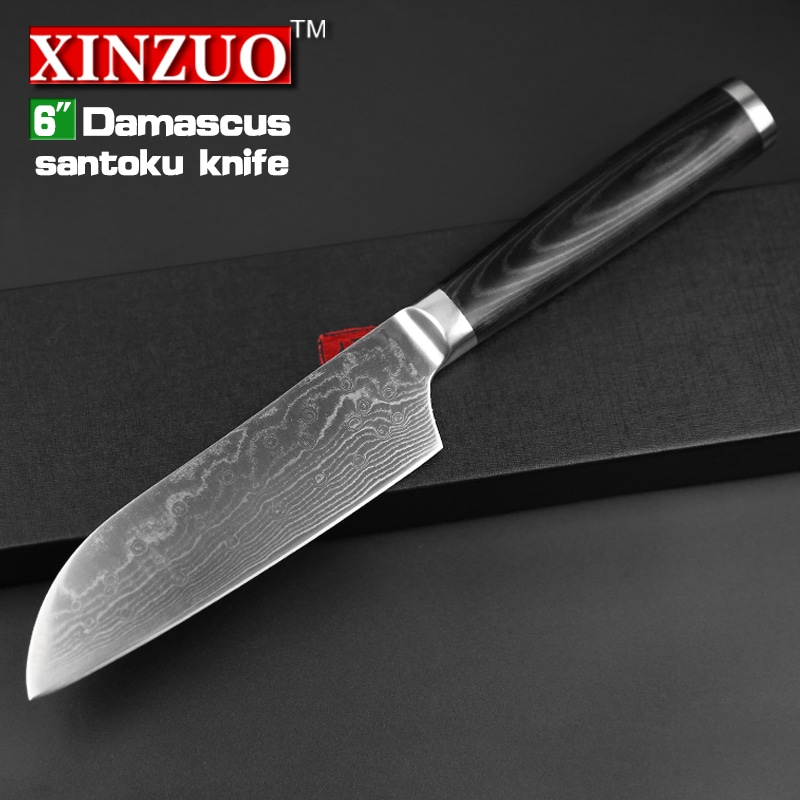 new 6 japanese chef knife damascus steel kitchen knives japanese vg10 chef knife kitchen tool. Black Bedroom Furniture Sets. Home Design Ideas