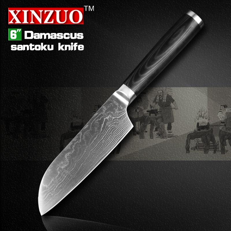 new 6 japanese chef knife damascus steel kitchen knives japanese vg10 chef knife kitchen tool. Black Bedroom Furniture Sets. Home Design Ideas