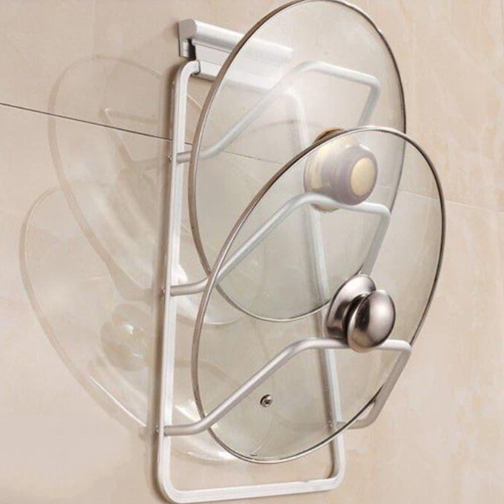 New Aluminum Kitchen Cabinet Door Pot Pan Lid Holder Space ...