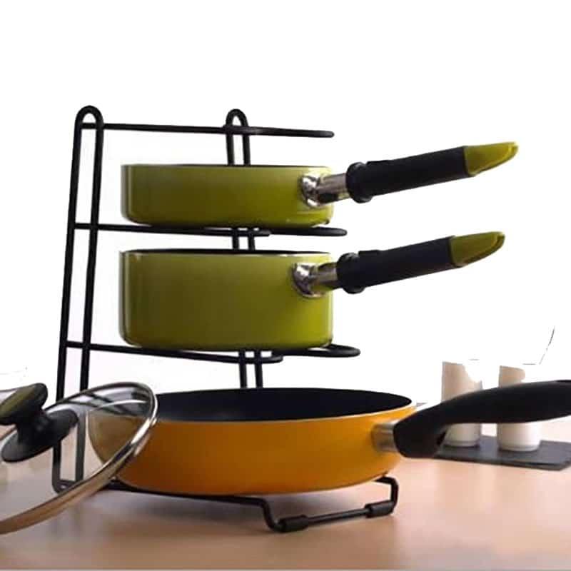 Pan Cover Stand Holder Racks Ladle Spoon Storage Rack ...