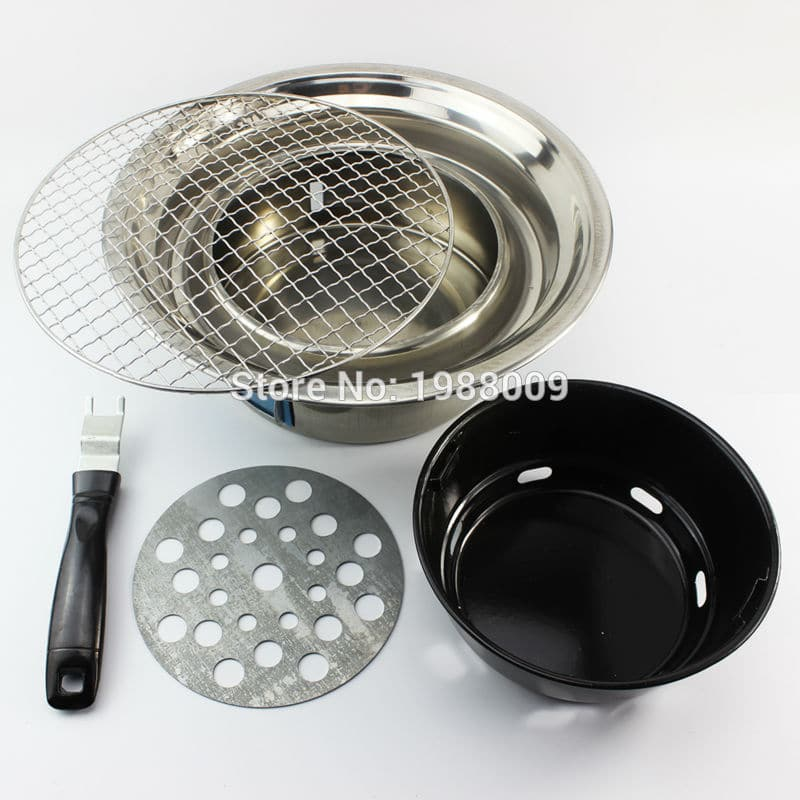 Household Stainless Steel Outdoor Couple Barbecue Brazier Charcoal Portable Mini Bbq Grill