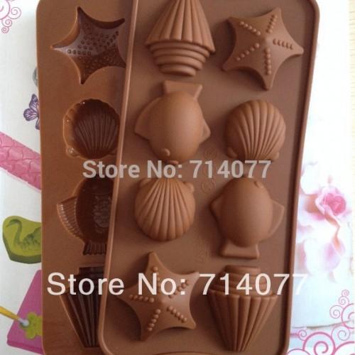 1pc Safety 4 Cavity Waffles Cake Chocolate Pan Silicone