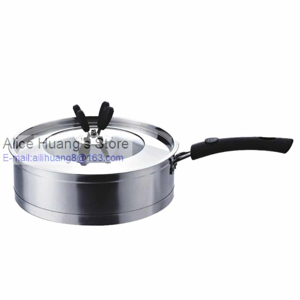 2015 Hot Sale Stainless Steel Non Stick Frying Pan 24cm