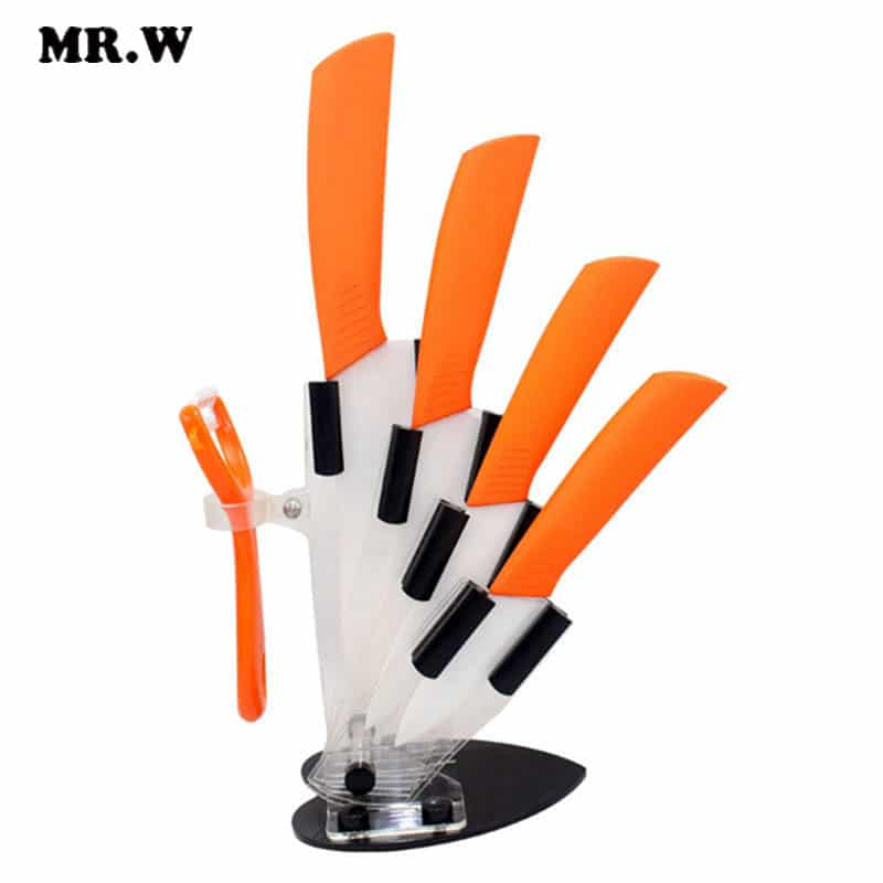 6 Colors Kitchen Ceramic Knife Set And Accessories Set