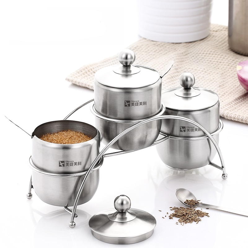 Kitchen Rack Set: Modern Kitchen Stainless Steel Kitchen Storage Utensil