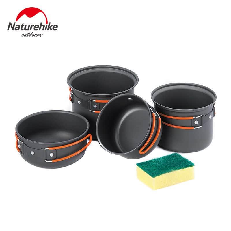 Naturehike Outdoor Camping Pot Pan Sets Aluminum Alloy