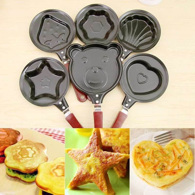 Shape Frying Eggs Pans Eco Friendly Heart Kitchen