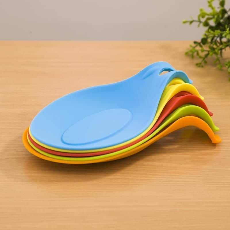 Silicone Spoon Rest Heat Resistant Kitchen Utensil Spatula
