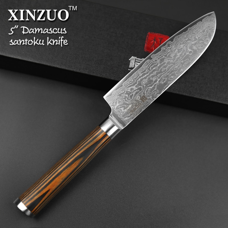 xinzuo 5″japanese chef knife 73 layers vg10 damascus steel